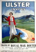 Ulster Invites. Vintage Travel Poster by Ulster Tourist Development Association